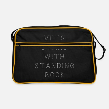 Stand Vets Stand With Standing Rock - Retro Bag