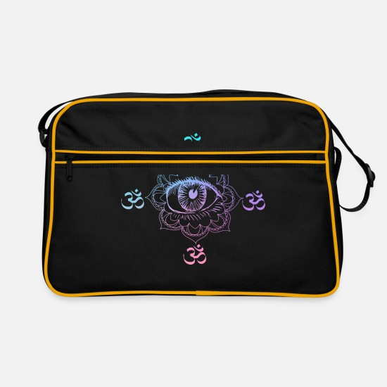 2019 Bags & Backpacks - Psytrance GOA Festival Gift - Retro Bag black/gold