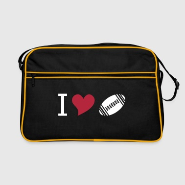 I love american football - Retro Tasche
