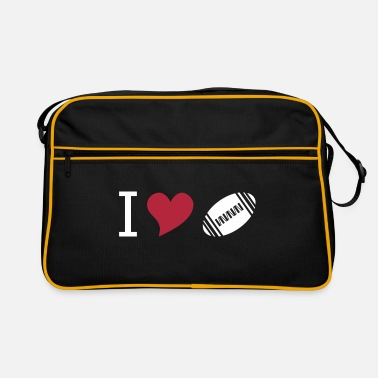 American I love american football - Retro Tasche