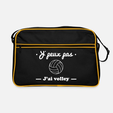 Volley J'peux pas j'ai volley , volleyball - Sac Retro