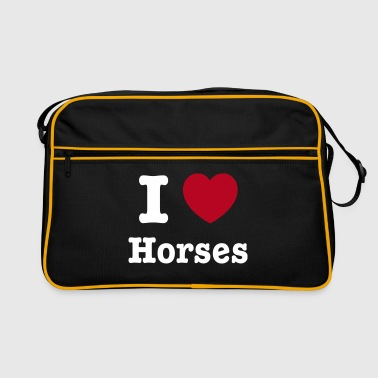 This design lets you change all colours - I love Horses - Retro-tas
