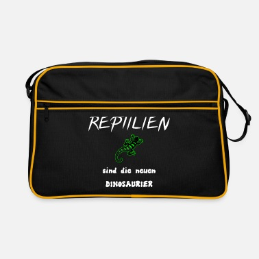 Reptile Reptiles and dinosaurs. - Retro Bag