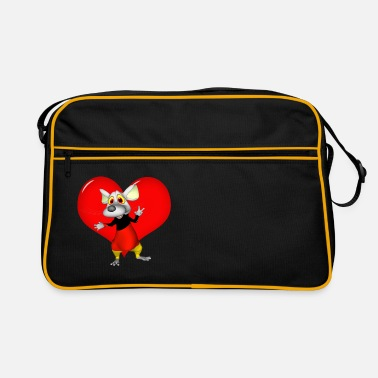 Funny mouse in 3D - Retro Bag
