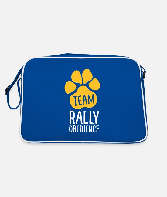 Motion Bags & Backpacks - Team Rally Obedience - Dog Paws - Dog Sport - Retro Bag blue/white