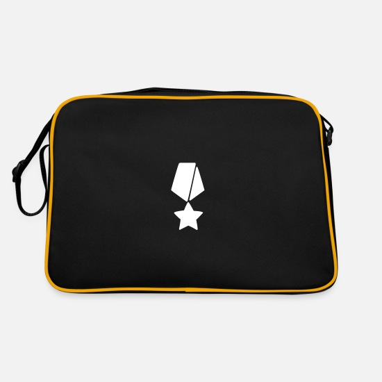 Star Bags & Backpacks - A star medal - Retro Bag black/gold