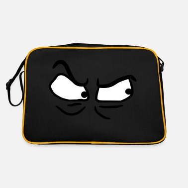 Angry Angry angry angry eyes - Retro Bag