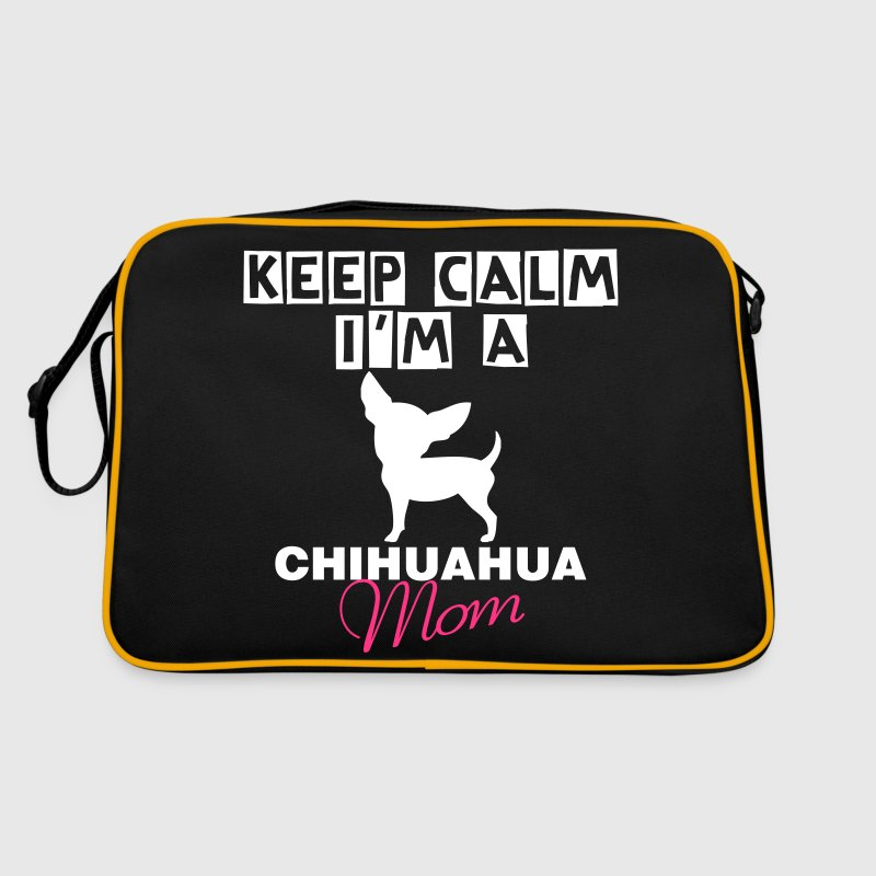 keep calm i'm a Chihuahua Mom - Borsa retrò