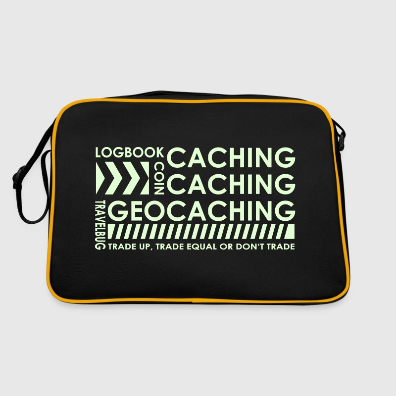 CACHING - CACHING - GEOCACHING / 3 Colors - Retro-tas