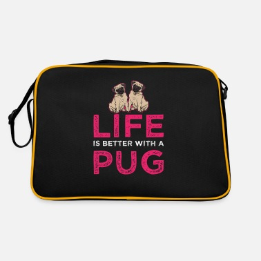 Pug pet dog life stuffed animal great idea - Retro Bag