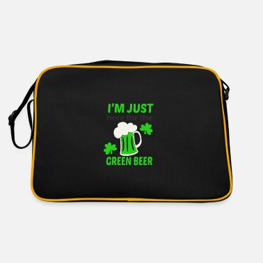 Green Beer Here for green beer - Retro Bag