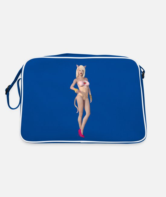 New Bags & Backpacks - New Burlesque - Retro Bag blue/white