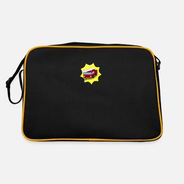 Fire department with background - Retro Bag