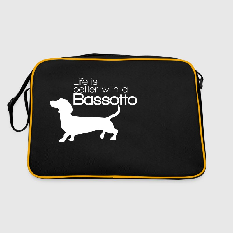 Life is better with a Bassotto - Borsa retrò