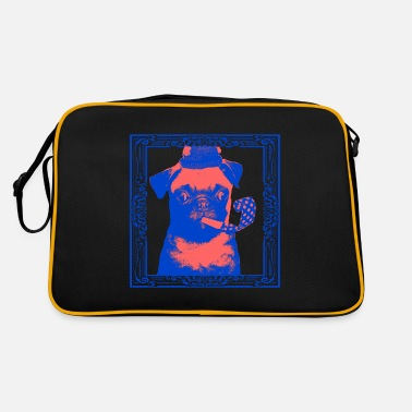 Fein Pop Art Blue Red Puppy - Retrotasche