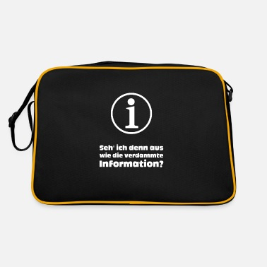 Information Information? - Retrotasche
