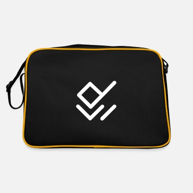 Drawing Painting Symbol Paint white symbols on the wall - Retro Bag