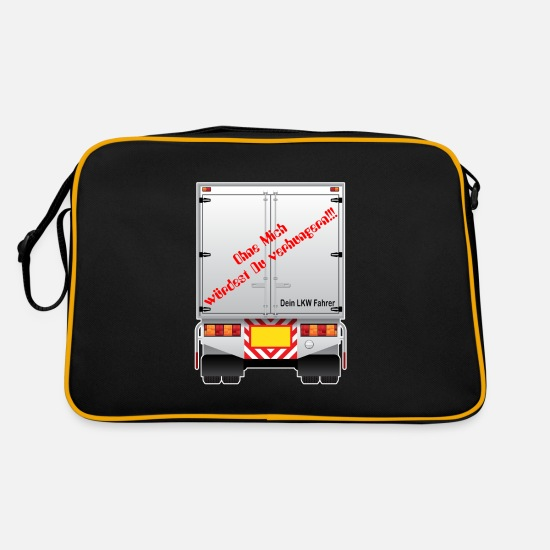 Driver Bags & Backpacks - Truck driver saying Without me you would starve - Retro Bag black/gold