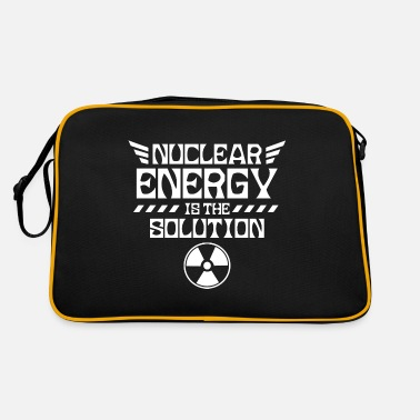 Nuclear Power Nuclear power is the solution nuclear nuclear power nuclear power - Retro Bag