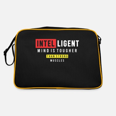 Working Hard Intelligent mind is tougher - Retro Bag
