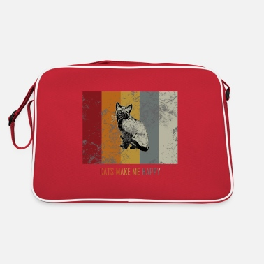 Vintage Cat retro vintage - Retro Bag