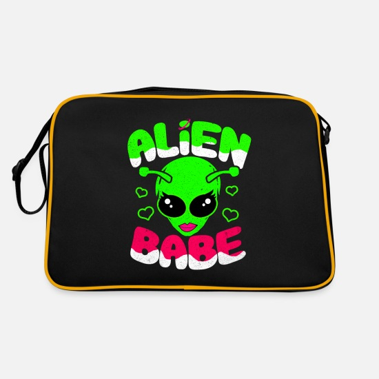 Gift Idea Bags & Backpacks - aliens - Retro Bag black/gold