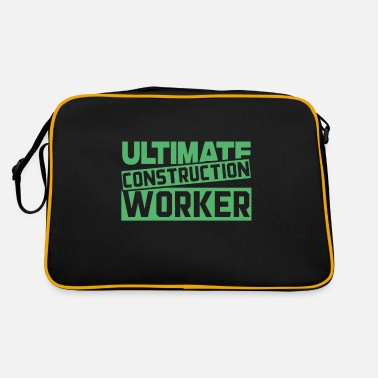 Worker Construction Construction Worker Construction Worker Worker Construction Work - Retro Bag
