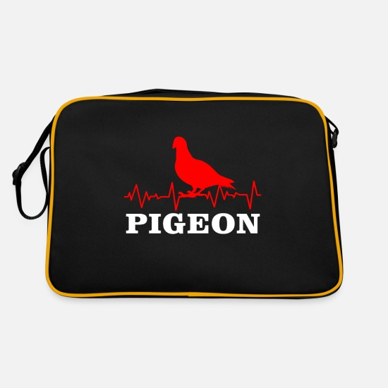 Pigeon Bags & Backpacks - Pigeons Race Pigeon Carrier pigeon Turtle Dove - Retro Bag black/gold