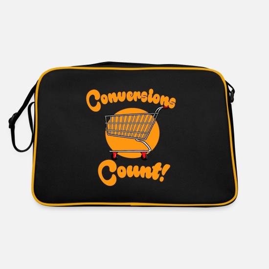 Gift Idea Bags & Backpacks - Ecommerce Conversions Onlineshop Shopping Geschen - Retro Bag black/gold