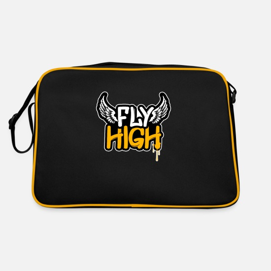 Rap Bags & Backpacks - graffiti - Retro Bag black/gold