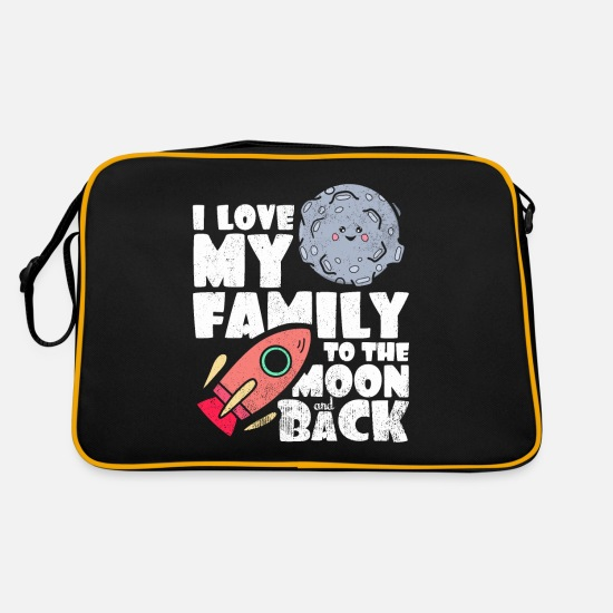 Mummia Borse & Zaini - Family Statement Love Statement Idea regalo - Borsa retrò nero/oro