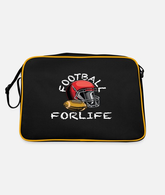 Touch Down Bags & Backpacks - Football quarterback american football footballer - Retro Bag black/gold
