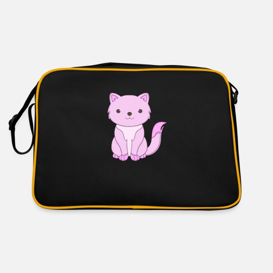 Children's Birthday Party Bags & Backpacks - Pink Cat Mangafan Chibi Kitten Domestic Cat - Retro Bag black/gold