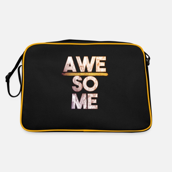 Awesome Bags & Backpacks - Awesome - Retro Bag black/gold