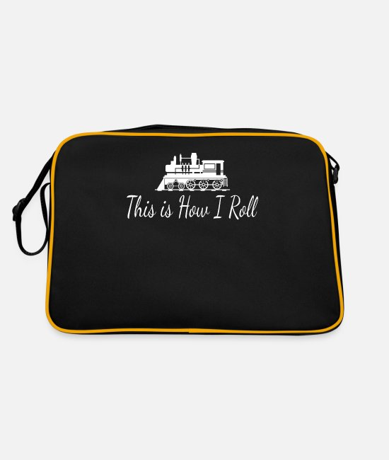 Trains Bags & Backpacks - train - Retro Bag black/gold