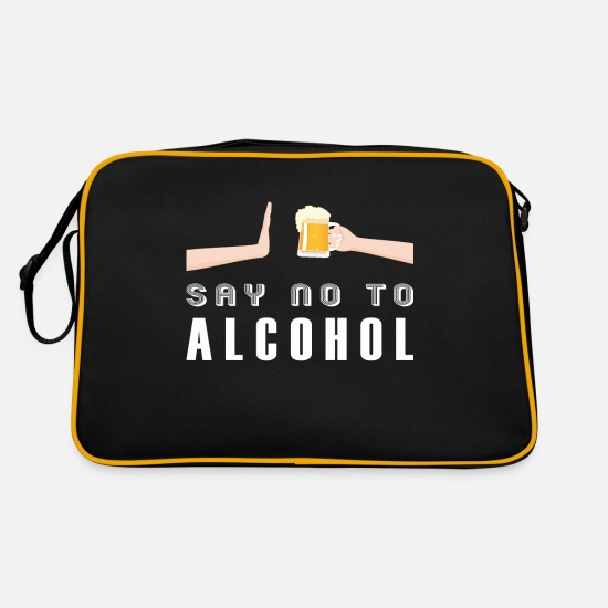 Clean Bags & Backpacks - Say no to the alcohol-free non-alcoholic alcohol - Retro Bag black/gold