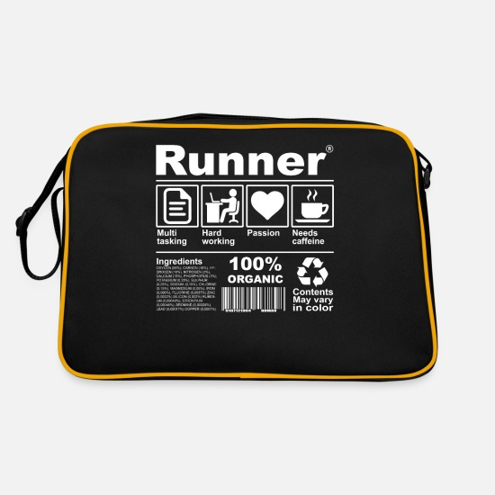 Runner Bags & Backpacks - Runner - Retro Bag black/gold