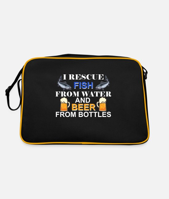 Angel Vacation Bags & Backpacks - Funny Angel sayings for beer drinkers - Retro Bag black/gold