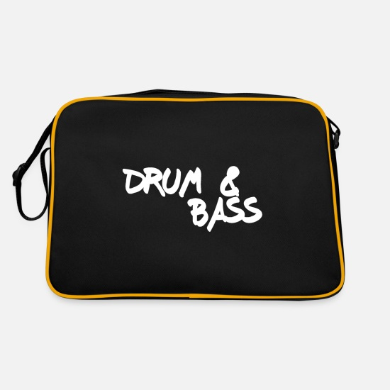 Dnb Sacs et sacs à dos - DNB Dubstep Music Dancing Drum And Bass - Sac vintage noir/or
