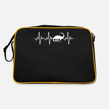 Stylish Apatosaurus heartbeat - Retro Bag