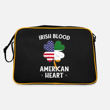 Dicembre Irish Blood American Heart St Patrick's Day - Borsa retrò