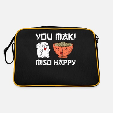 Japanese Sign Sushi funny saying you maki miso happy gift - Retro Bag