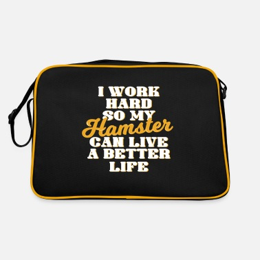 Hamster Saying Hamster funny hamster saying cool - Retro Bag