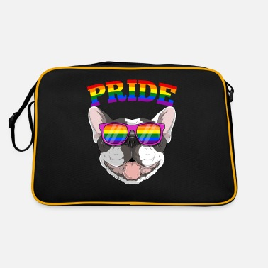 Community Gay Pride Frenchbull Frenchie Hund mit LGBT - Retrotasche