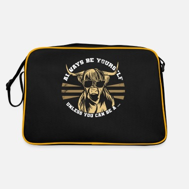 Deux Shaggy Highland Cattle - Sac vintage
