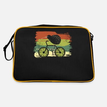Ny Cycle New Zealand Funny Kiwi sur un vélo Design - Sac vintage