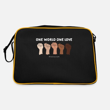 Against racism - One Love - Retro Bag