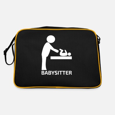 Baby sitting gift for babysitter mom dad - Retro Bag
