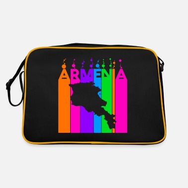 Currency Armenia Colored bubbles and bubbles - Retro Bag