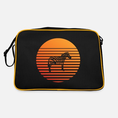 South America Zebra silhuette in the sunset - Retro Bag